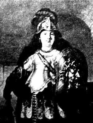 Беллона, римская богиня войны. Картина Рембранта, 1633 г.