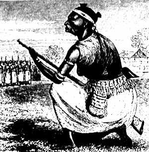 «Супруга пантеры» из личной охраны короля Дагомеи.